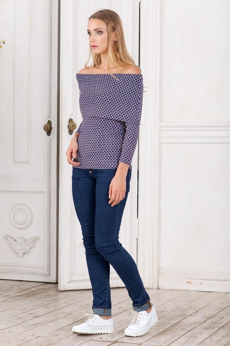 Blouse 0800701-23 off shoulder tie front blouse