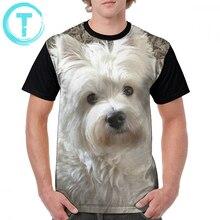 лучшая цена West Highland White Terrier T Shirt Westie T-Shirt Cute Print Graphic Tee Shirt Short-Sleeve 100 Polyester Male Plus size  Tshirt