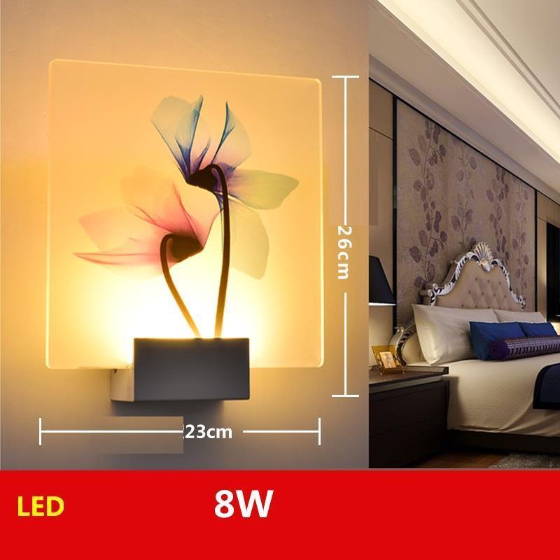 Techo Colgante Moderna Lamp Mirror Lampe Murale Led Lampara De Interior Wandlamp Bedroom Aplique Luz Pared Wall Light in Wall Lamps from Lights Lighting