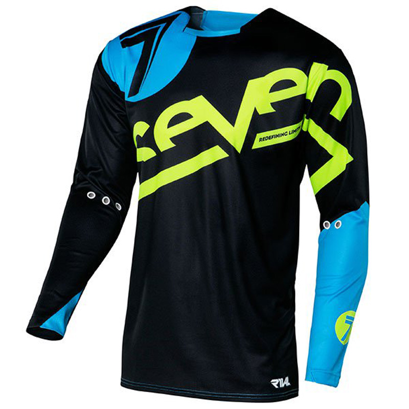 2018 seven breathable shirt cycle clothes bike cycling man race tshirt equipment bmx motocross bmx dh cross mtb black in Cycling Jerseys from Sports Entertainment