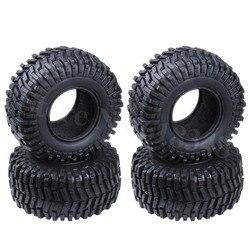 4 pcs 2.2 인치 128mm 고무 타이어와 거품 삽입 id: 64mm 너비: 55mm 1/10 rc 락 크롤러 원격 제어 자동차 타이어