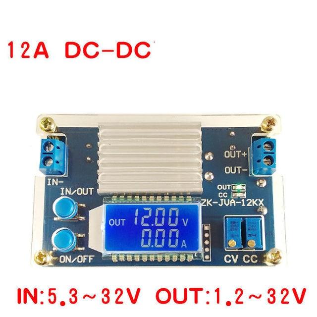 DC DC Converter 12A 160W CC CV Buck Step down Power Module 5.3 32V to 1.2 32V 12V 24V 5V Voltage current power LCD display Meter