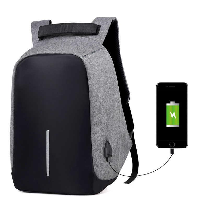 Противоугонный USB подзарядка 15 дюймов Рюкзак для ноутбука для мужчин и женщин многофункциональный дорожный Рюкзак Школьные сумки Mochila Masculina