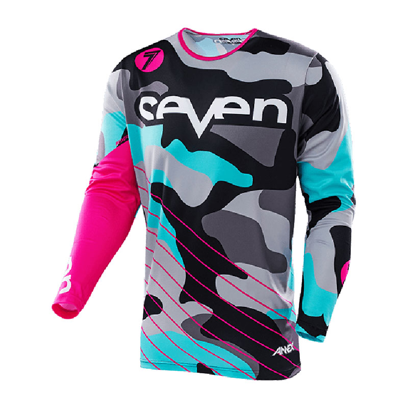 2018 seven breathable shirt cycle clothes bike cycling man race tshirt equipment bmx motocross bmx dh cross mtb in Cycling Jerseys from Sports Entertainment