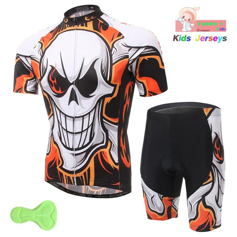 Cycling Jersey Children 2019 Pro Team Boys Mtb Motocross Triathlon Cycling Jersey Suits Kids Bicycle Clothing Bike Cycling Kit