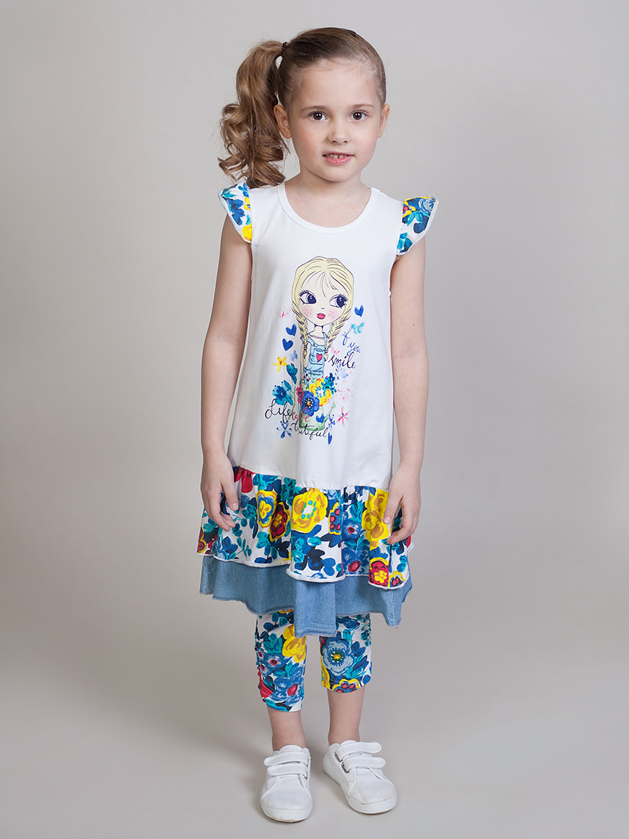 [Available with 10.11] dress knitted girls платья для девочки summer gtyle baby girl версия для печати flower dot girl dress for wedding girls party dress with bow dress for 4 8 years
