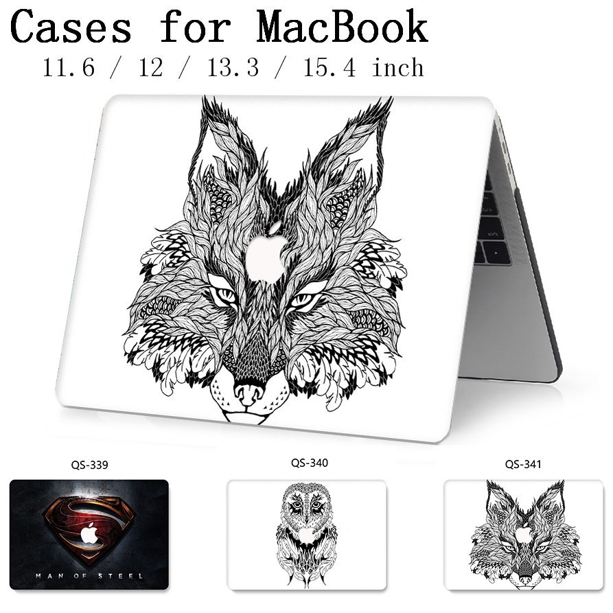 New Laptop Case For Macbook 13.3 15.6 Inch For MacBook Air Pro Retina 11 12 13 15.4 With Screen Protector Keyboard Cove Gift Hot-in Laptop Bags & Cases from Computer & Office