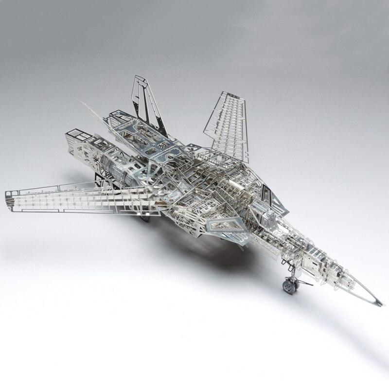 1/72 Valkyrie mthrough VF-1A/S complet PE modèle jasmin 3D acier métal bricolage pliable aile Miniature Kits Puzzle jouets épissure passe-temps