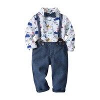 Carters primavera infantil menino terno conjunto animal impressão macacão + calças + cinto 3 peças ternos 1 3 anos crianças roupas para festa de casamento|Conjuntos de roupas| |  -