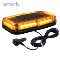 Justech 12/24V 6/24/72 LED MAGNETIC EMERGENCY BAR RECOVERY WARNING STROBE LIGHT BEACON AMBER 18W