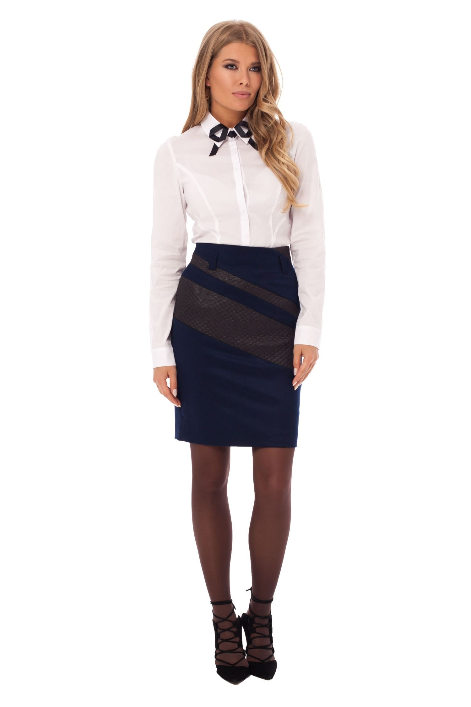Skirt pencil tie waist plaid pencil skirt