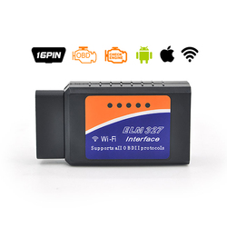 ELM327 V1.5 OBD2 Bluetooth/WIFI Car Diagnostic Tool ELM 327 OBD II Scanner Chip PIC18F25K80 Work Android/IOS/Windows 12 V Car