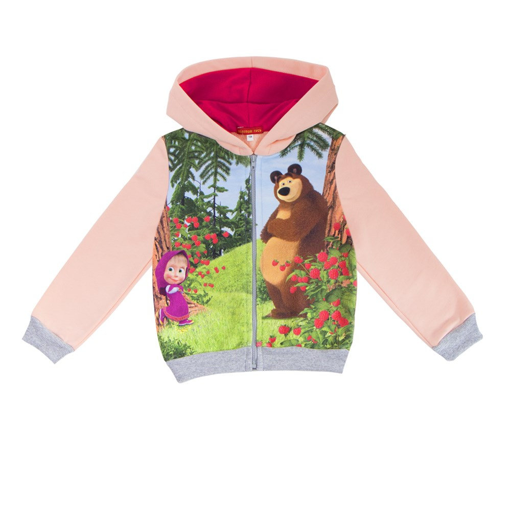 Masha and Bear Jacket-sweatshirt zipper masha and friends notecards