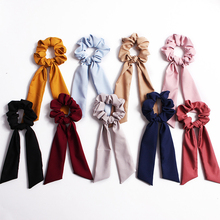Sale 1PC Elastic Soild Color Floral Rope Hair Band For Women Ribbon Girls Scrunchie Ties Accessories