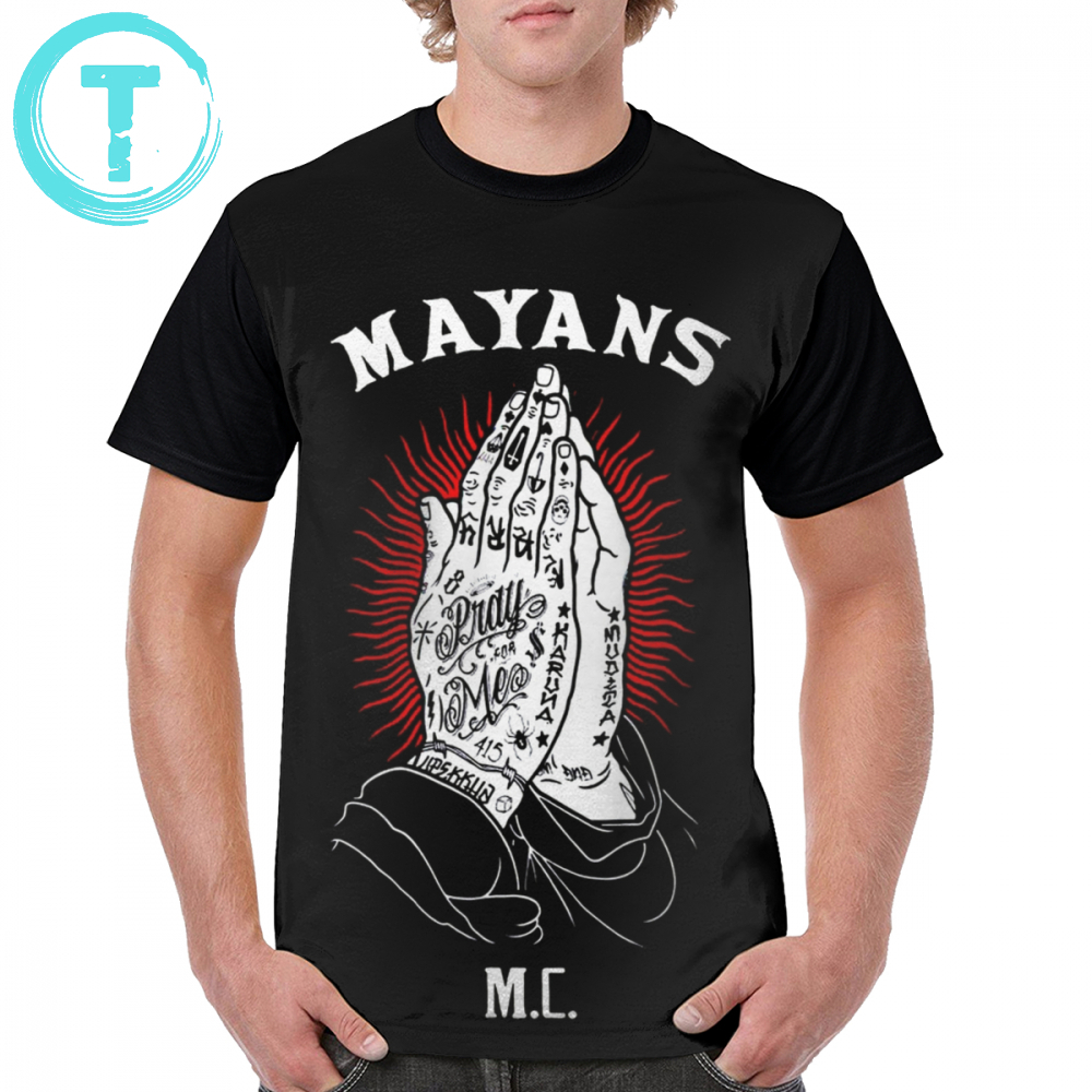 Mayans <font><b>Mc</b></font> <font><b>T</b></font> <font><b>Shirt</b></font> Mayan <font><b>Mc</b></font> <font><b>T</b></font>-<font><b>Shirt</b></font> 4xl Beach Graphic Tee <font><b>Shirt</b></font> Awesome Graphic 100 Polyester Man Short-Sleeve Tshirt image