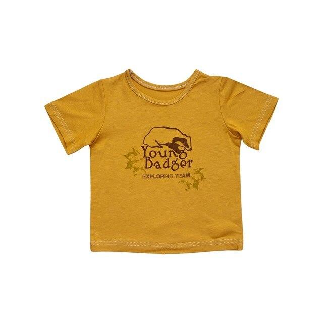 Little People Рубашка-футболка желтая с принтом М