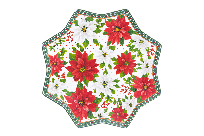 Available from 10.11 Dish serving Poinsettia Elan Gallery 420203 hot dish