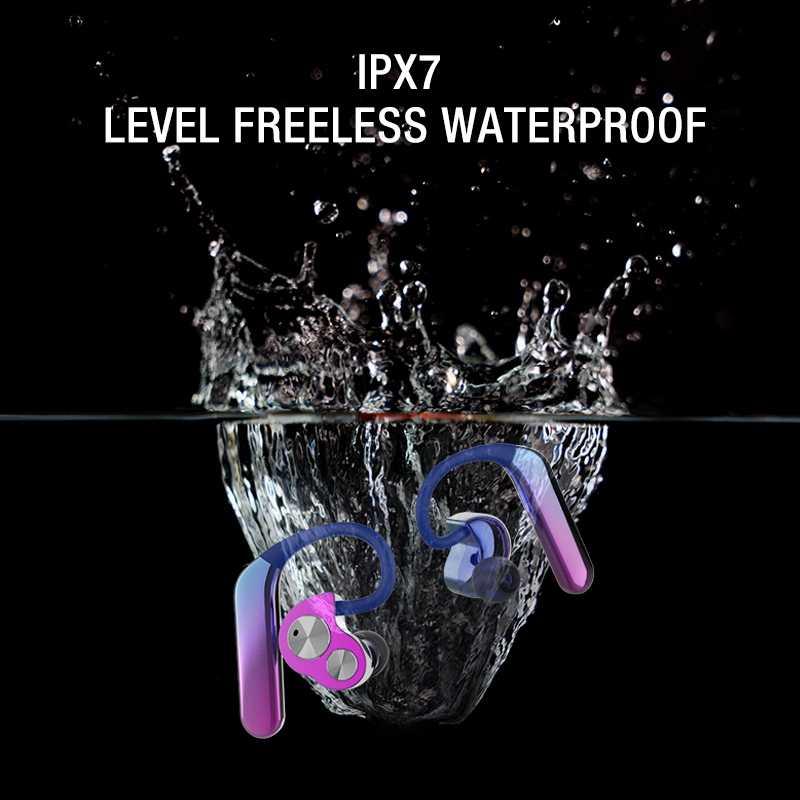 2 Pcs Drahtlose Bluetooth Headset Tws Bilateralen Stereo Hängen Ohr Typ 5,0 Sport Wasserdichte Stereo Sound Sport Kopfhörer