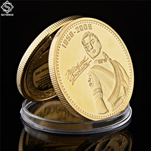 The King of Pop Michael Jackson Souvenir Coin Gold Plated Commemorative Annivesary Best Gift
