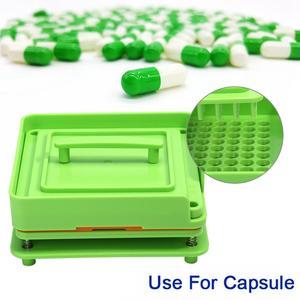 Image 5 - 100 Gaten Plastic Manual Capsule Filler Size 0 #1 # Capsule Poeder Filler Plaat Handmatige Vulmachine Tool Voor DIY Kruiden Capsule