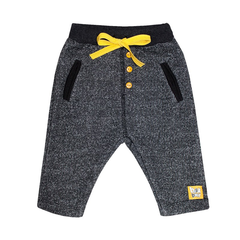 Basik Kids Pants with pockets Anthracite kids clothes children clothing fuzzy cardigan sweater with pockets