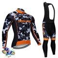 Nwtrek 2019 nova camuflagem dos homens de manga longa ciclismo roupas equipe pro respirável ciclismo jerseys bib calças conjunto mtb ropa ciclismo