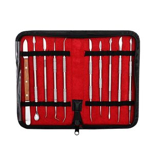Image 5 - 10pcs Dental Wax Carving Tools Set with Kit Carver Mixing Spatula Knife Dental Lab Equipment Stainless Steel Double Ends