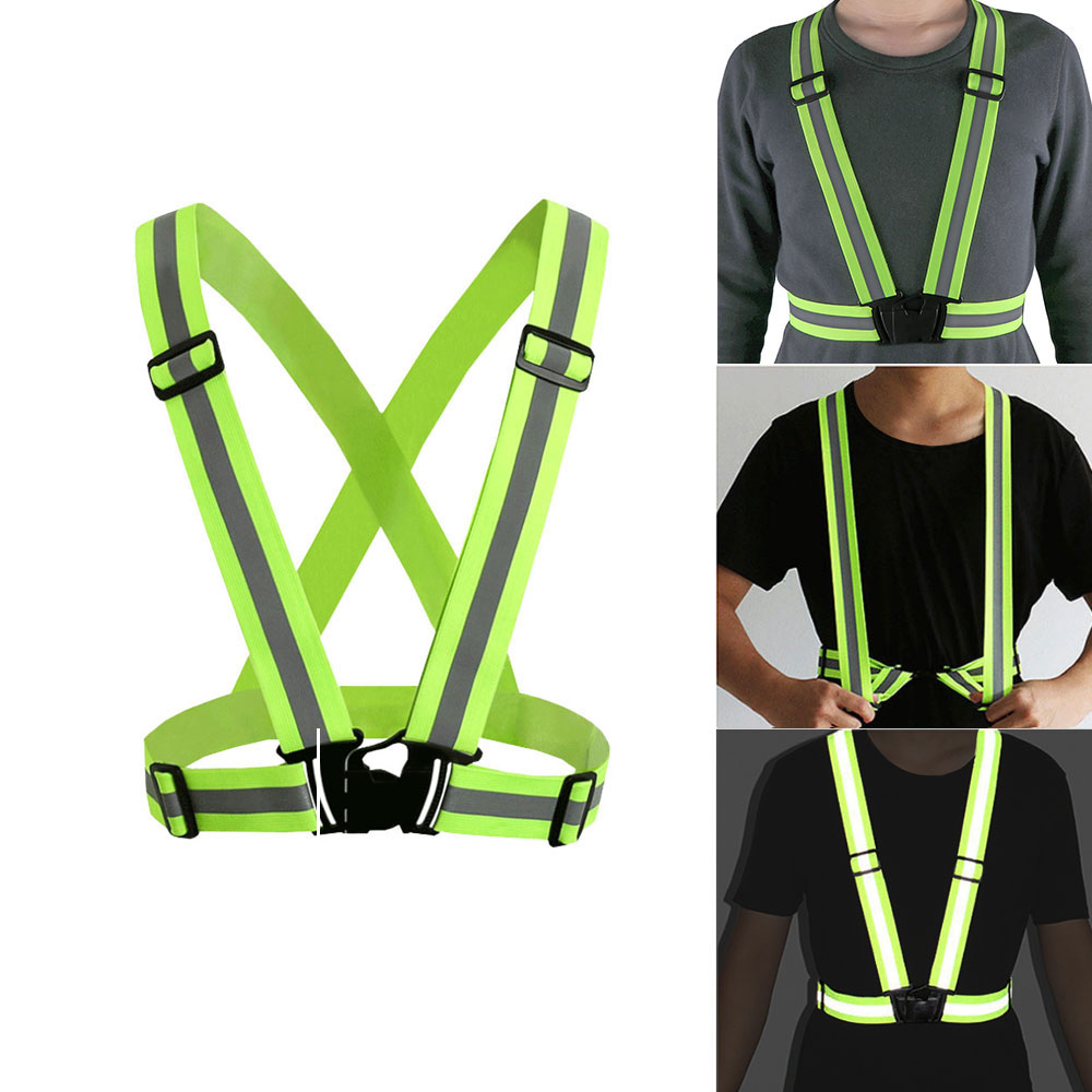 Back To Search Resultssports & Entertainment Reflective Vests Running Safety Vest Traffic Sanitation For Man Women Jogging Running Walking Biking Cycling Sports Outdoor
