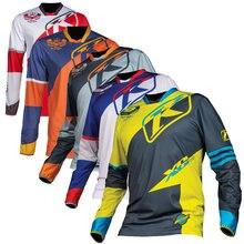цена на Roupa Ciclismo Hot Sale 2018 Dh Ls Bmx Motocross Downhill Cycling Jersey Clothing Enduro Team Pro Rbx Mtb Moto Gp Mountainbike