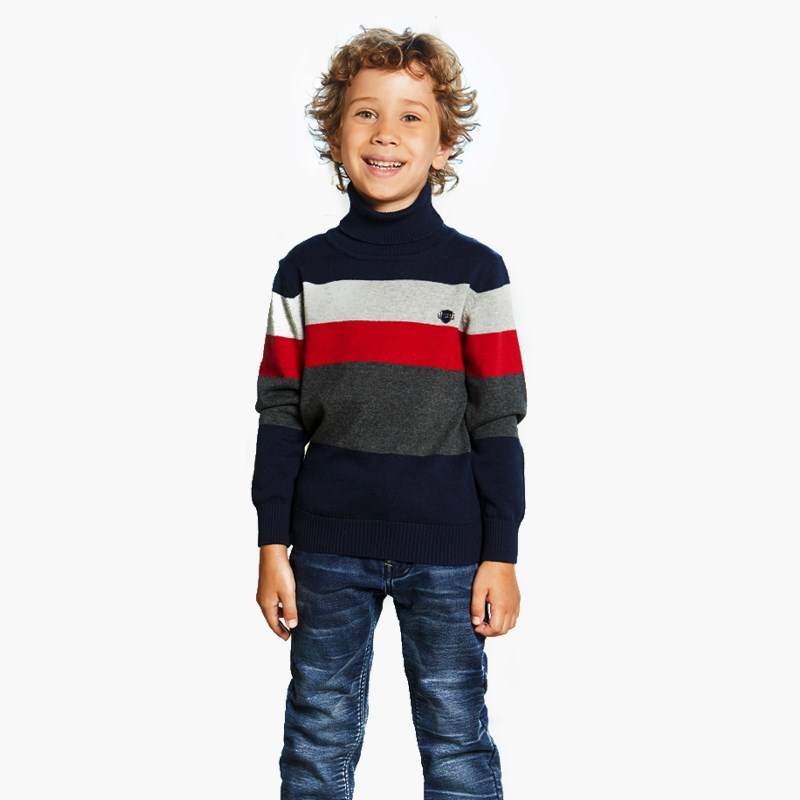 Turtleneck knitted for boys fashion stripe knitted mermaid tail design blanket for kids