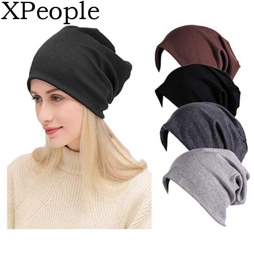 XPeople Women Men Stylish Thin Hip-hop Soft Stretch Knit Slouchy Beanie Hat Skull Cap