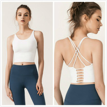 Yoga Shirts Fitness Women ports Bra Padded Gym Top Crop Tops Quick Dry Vest Workout Sleeveless Activewear