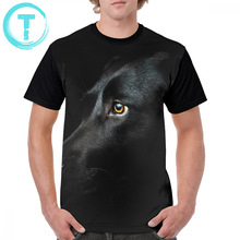 Labrador T Shirt Black T-Shirt Classic Graphic Tee Fun Men Big 100 Percent Polyester Short-Sleeve Tshirt