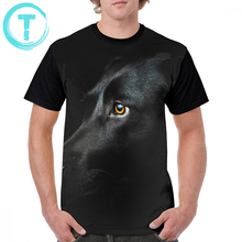 Labrador T Shirt Zwart Labrador T shirt Klassieke Grafische Grafische Tee Shirt Fun Mannen Grote 100 Procent Polyester Korte Mouwen tshirt