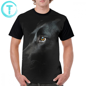 Image 1 - Labrador T Shirt Zwart Labrador T shirt Klassieke Grafische Grafische Tee Shirt Fun Mannen Grote 100 Procent Polyester Korte Mouwen tshirt