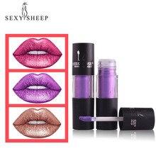 SEXYSHEEP, женские Сексуальные Металлические блески для губ, стойкая антипригарная чашка, глазурь для губ, Дамская мода, инструмент для макияжа, матовая губная помада