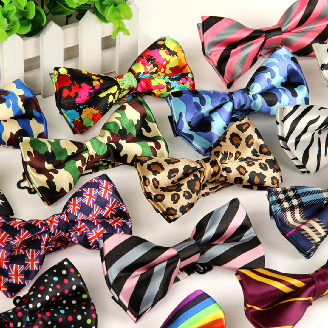 39 Color Adjustable Men's Bowtie Polyester Cartoon Man Floral Dot Bows Tie Wedding Celebration Party Butterfly Birthday Necktie