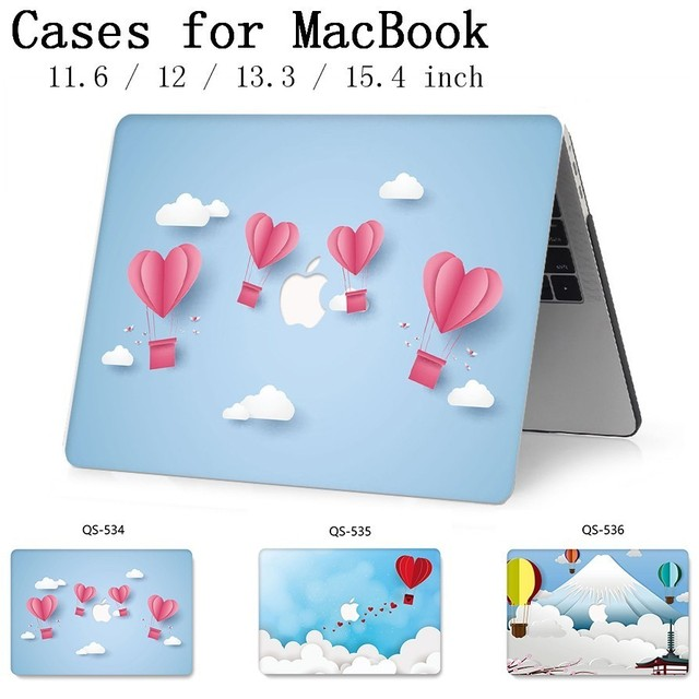 For MacBook Laptop Case 13.3 15.4 Inch For MacBook Air Pro Retina 11 12 13 15 With Screen Protector Keyboard Cove Apple Bag Case