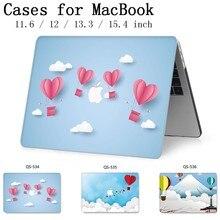 Para o Caso MacBook Laptop 13.3 15.4 Polegada Para MacBook Air Pro Retina Teclado 11 12 13 15 Com Protetor de Tela saco Caso enseada Maçã