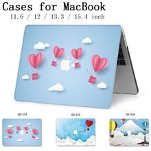 Pour MacBook étui pour ordinateur portable 13.3 15.4 pouces pour MacBook Air Pro Retina 11 12 13 15 avec écran protecteur clavier crique Apple sac étui
