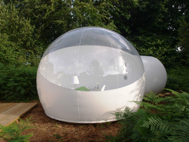 3/4/5m 10/13/16ft Outdoor Camping Inflatable Bubble Tent Large Diy House Dome Camping Cabin Lodge Air Bubble Transparent Tent 3