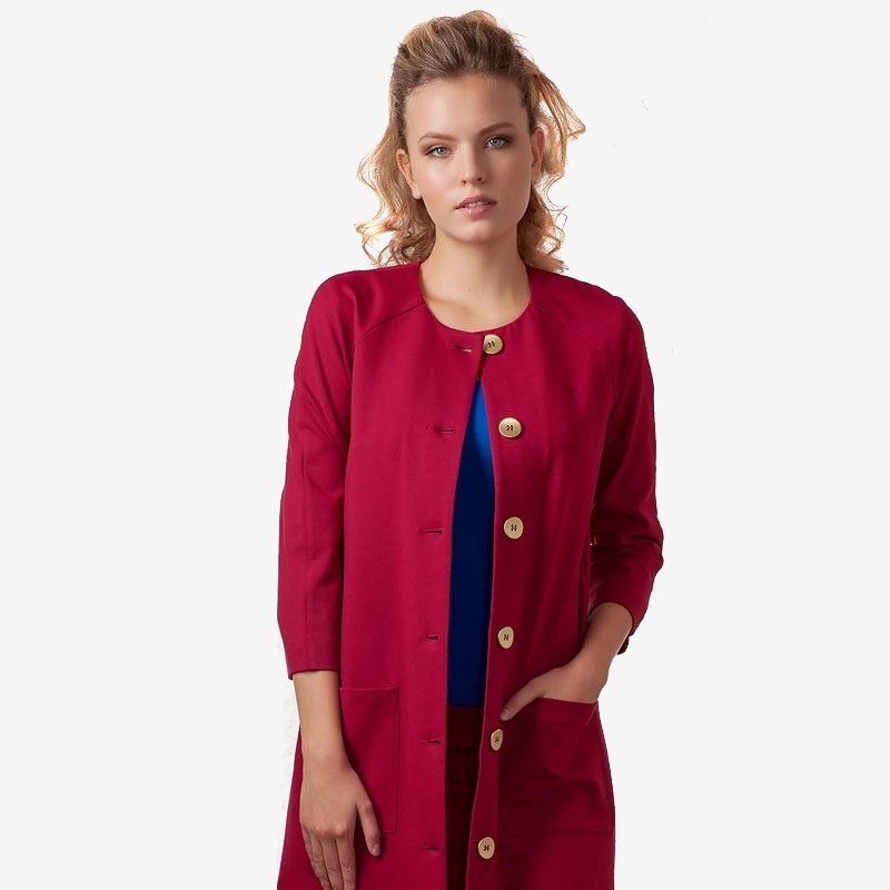 Cardigan 1701242-41 shawl collar long sleeve one button cardigan