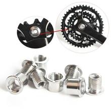 4 Pair MTB Nail Plate Dental Screws Steel Chainwheel Bolts Road Bike Crank Crusset Nut Parts Bicycle Accessories