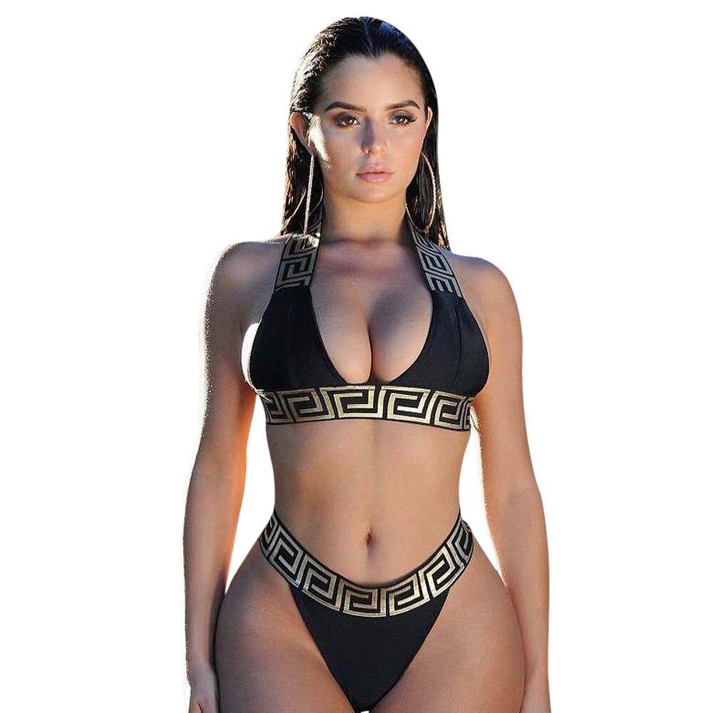 Costume da bagno fasciatura Bikini Sexy Set da donna Crop Top Bikini Mujer 2019 costumi da bagno costume da bagno donna fuso separato Biquini