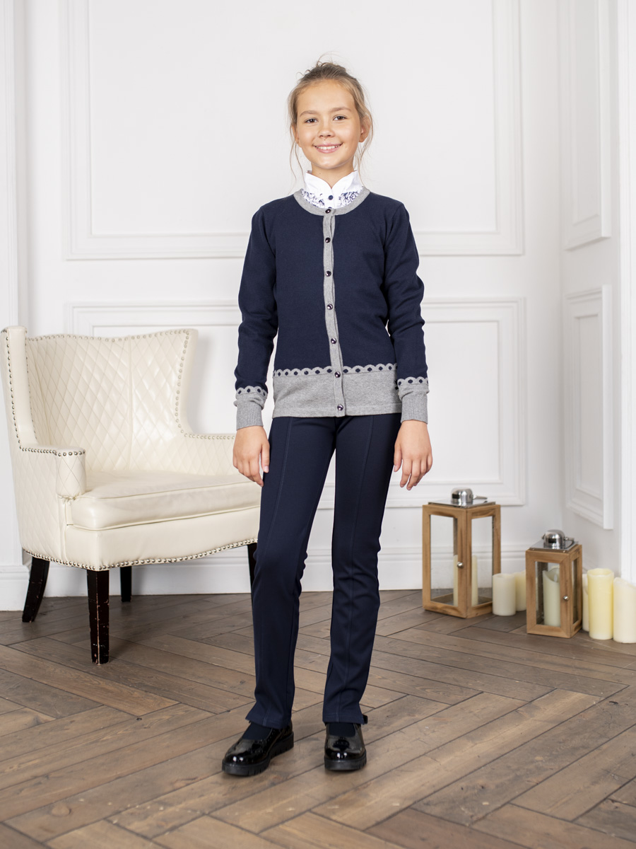 [Available with 10.11] Jacket knitted girls fleece lined jacket with epaulet