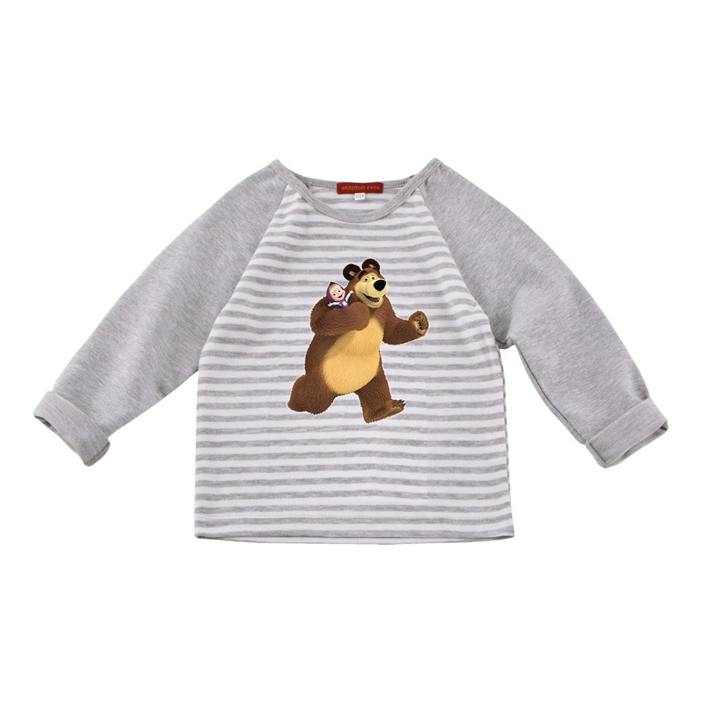 Masha and Bear Shirt long sleeve combination M kids clothes children clothing turndown collar long sleeve eagle graphic print cool shirt