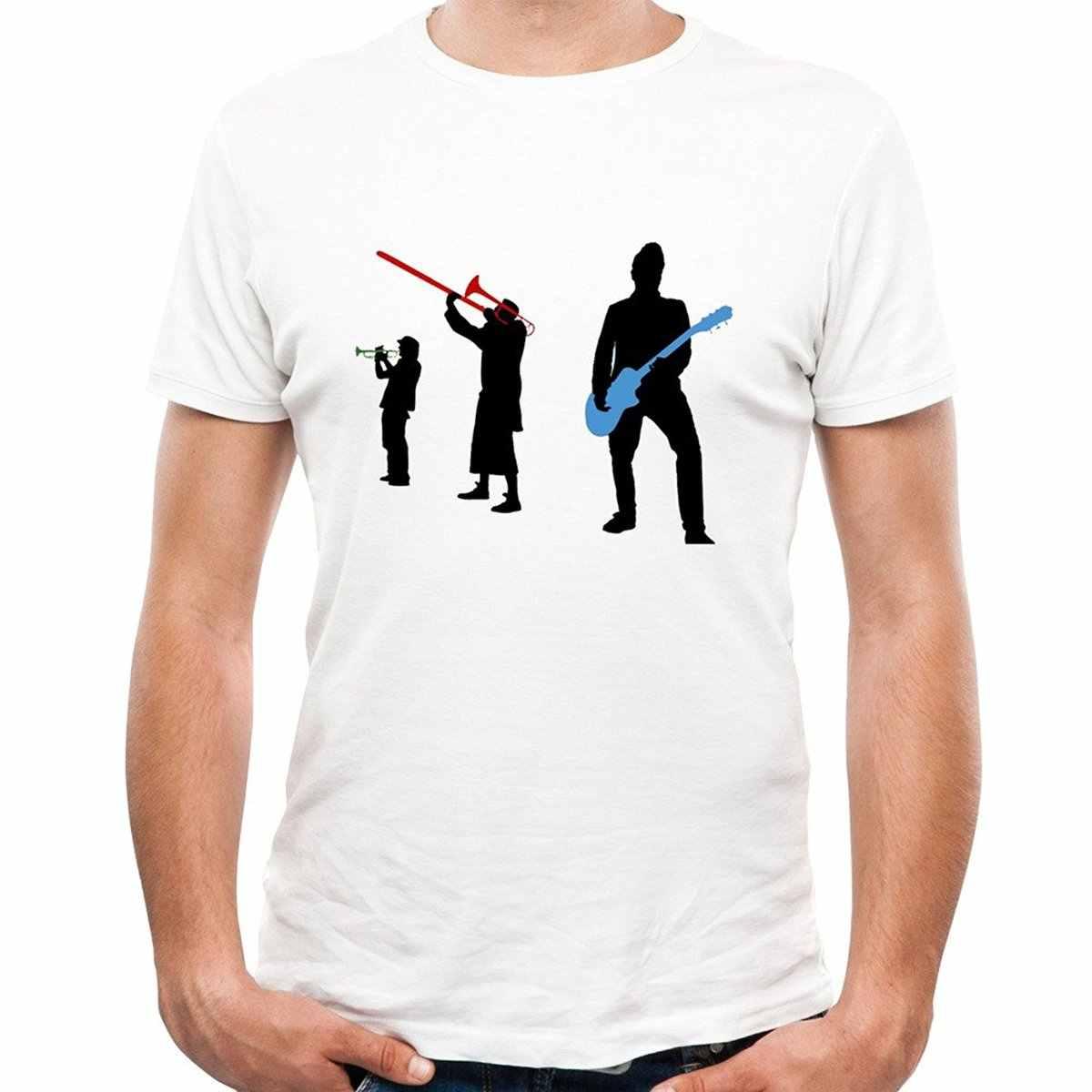Fashion T Shirt Free Shipping Men'S Short Sleeve Office Reel Big Fish Puck Bandell Out Short Crew Neck T Shirts