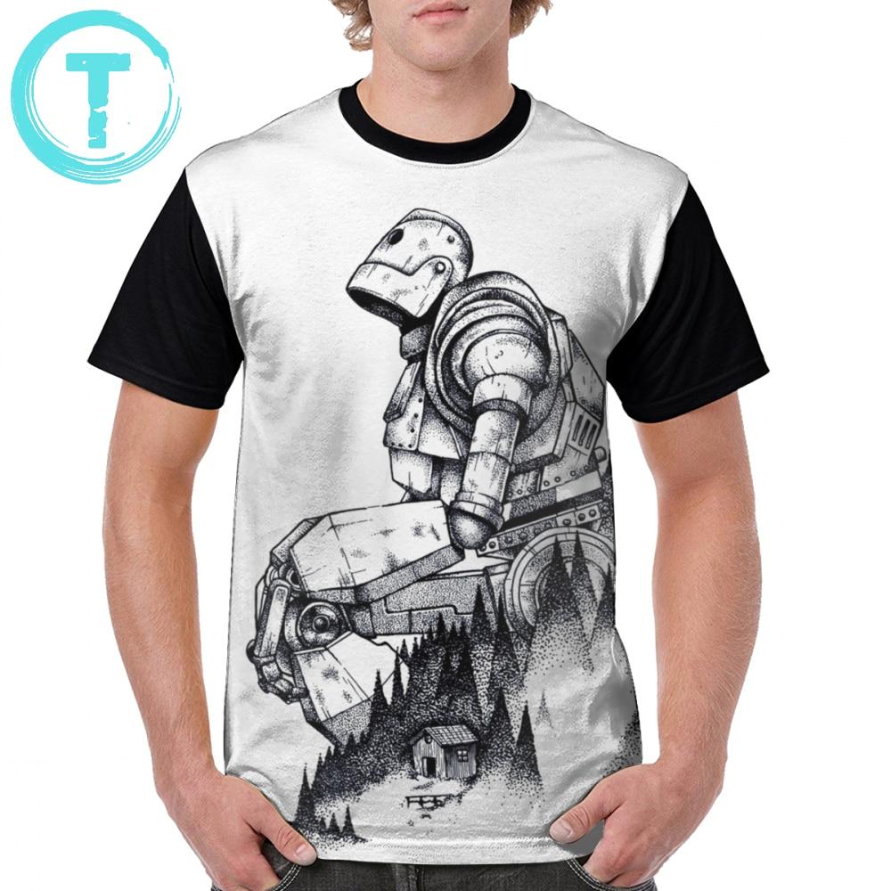 Iron Giant T Shirt Iron Giant T-Shirt Plus Size  Short-Sleeve Graphic Tee Shirt Print Men Fun 100 Percent Polyester Classic Tshirt
