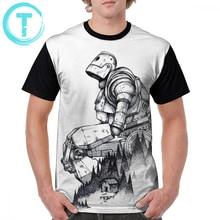 цена на Iron Giant T Shirt Iron Giant T-Shirt Plus size  Short-Sleeve Graphic Tee Shirt Print Men Fun 100 Percent Polyester Classic Tshirt