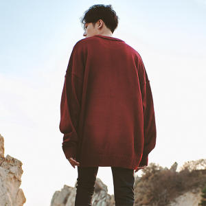 Sweater Men Pullover Korean Autumn Men's Casual And Spring Solid Couple Time-Limited